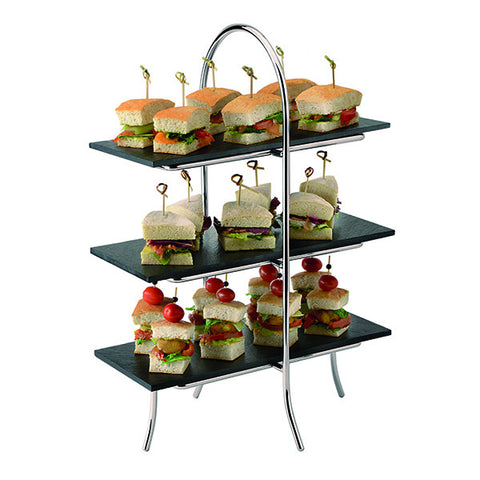 Art de Gourmet 3 Tier Platter Stand - Black (256x286x513mm)