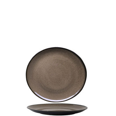 Luzerne - Rustic Chestnut Round Plate - Small (165mm)