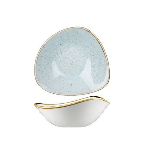 Churchill - Stonecast Duck Egg Triangle Bowl - Medium (185mm)