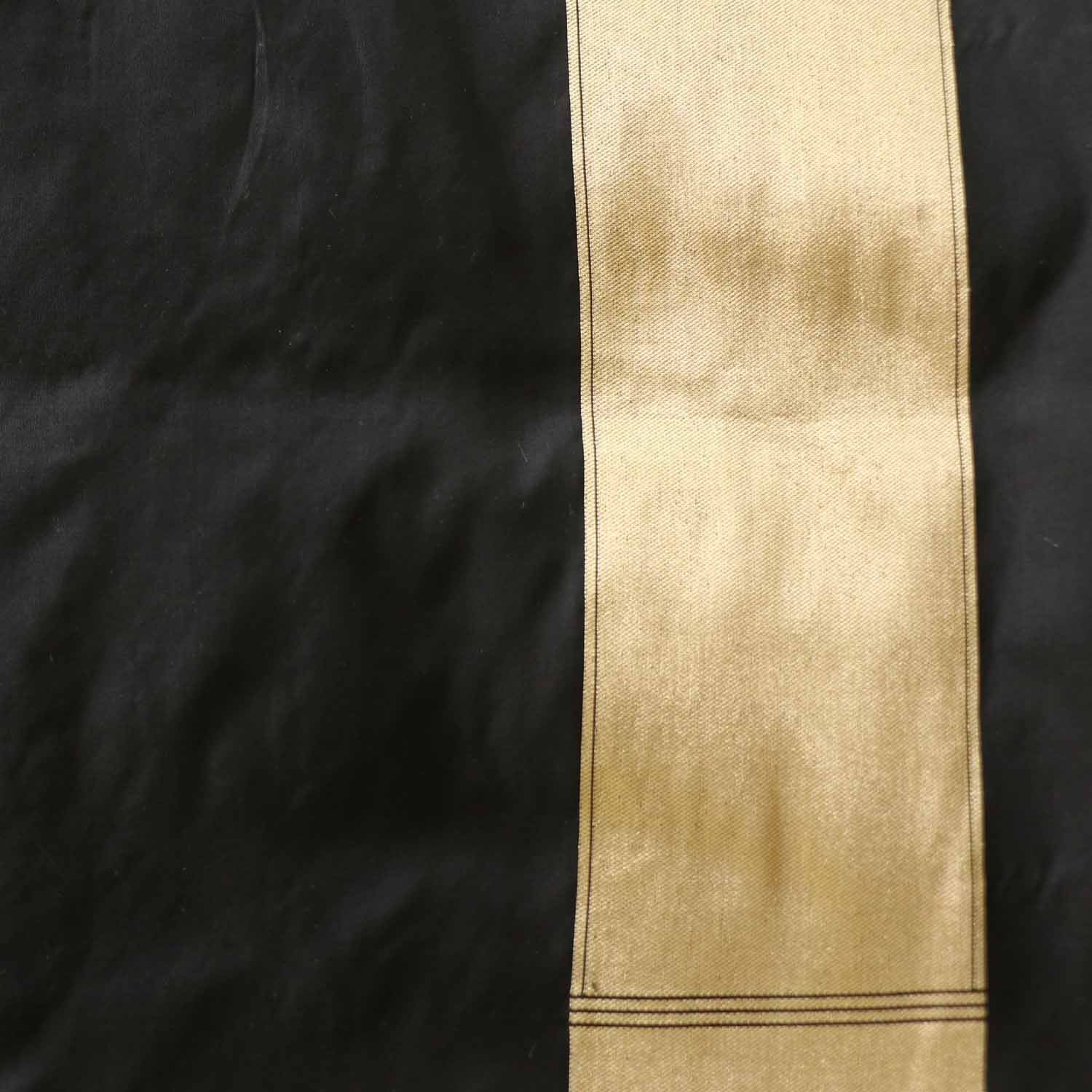 Black-Brown Pure Katan Silk Banarasi Handloom Saree - Tilfi - 4