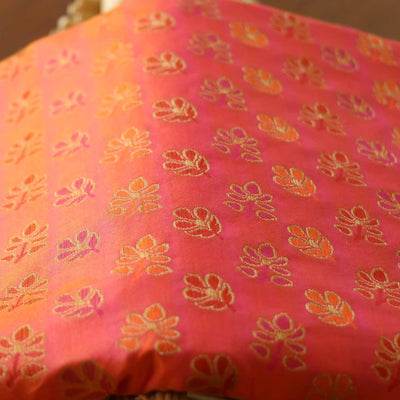 Light Orange-Magenta Pure Katan Banarasi Handloom Saree - Tilfi