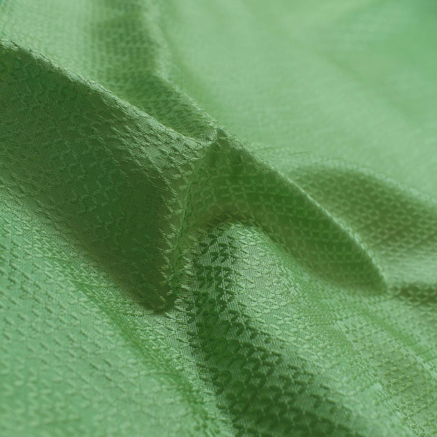 Pista Green Pure Satin Silk Banarasi Handloom Saree - Tilfi - 4
