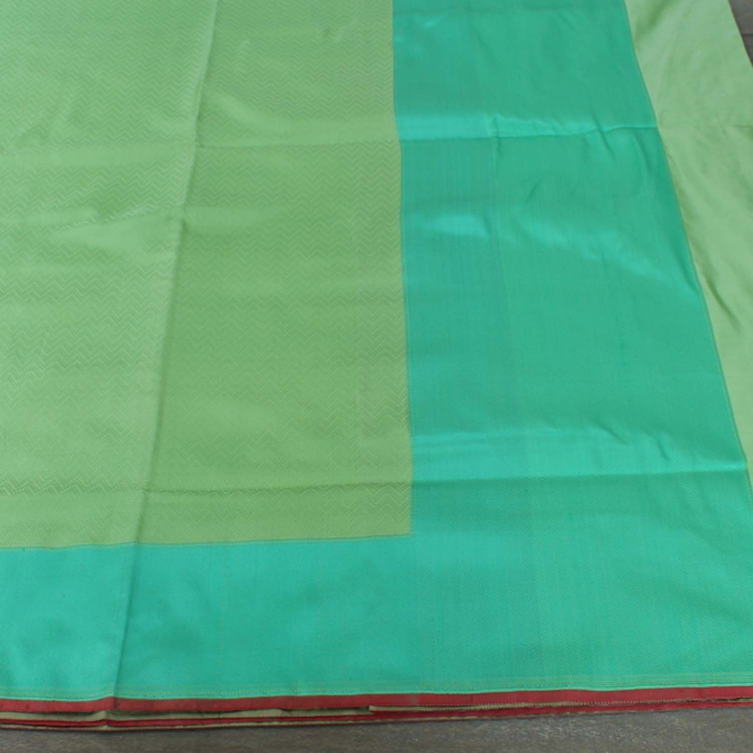 Pista Green Pure Satin Silk Banarasi Handloom Saree - Tilfi