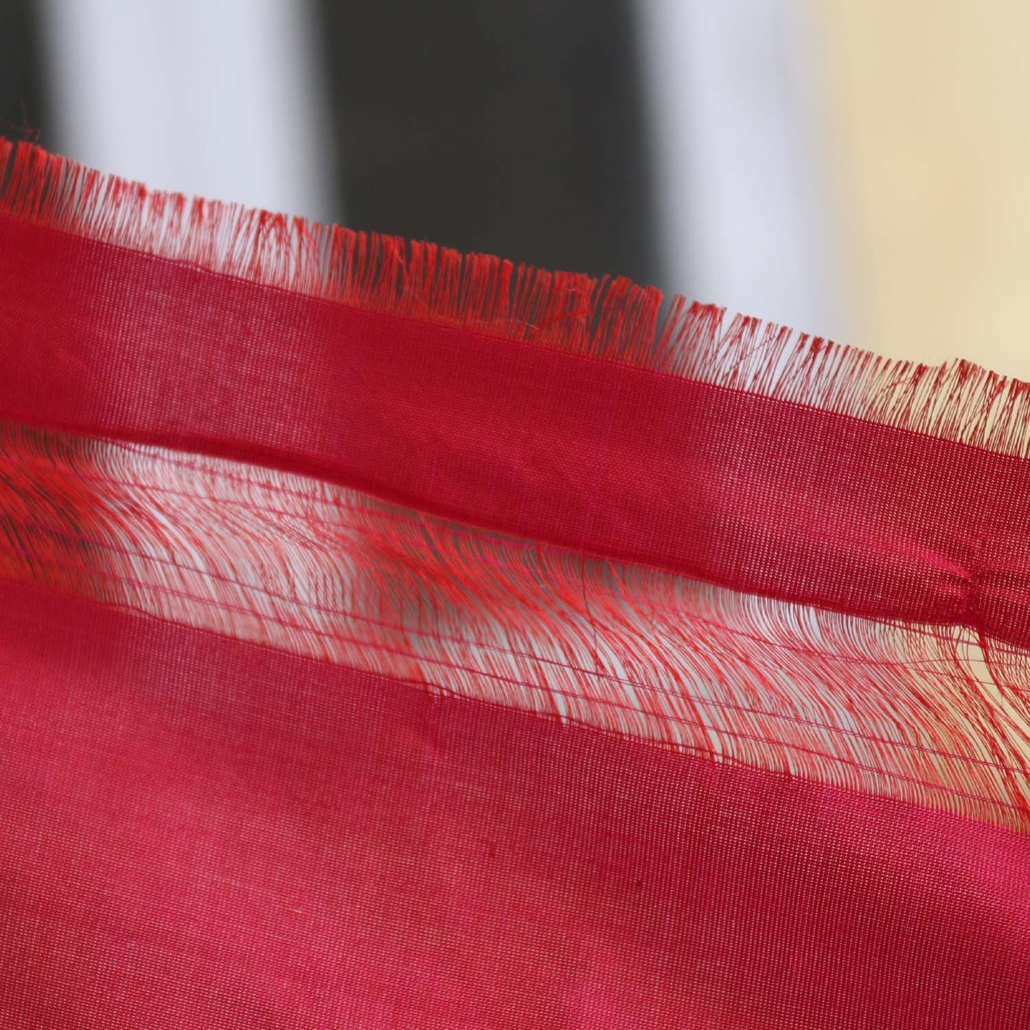 Indian Pink Pure Katan Silk  Banarasi Handloom Dupatta Red - Tilfi - 3