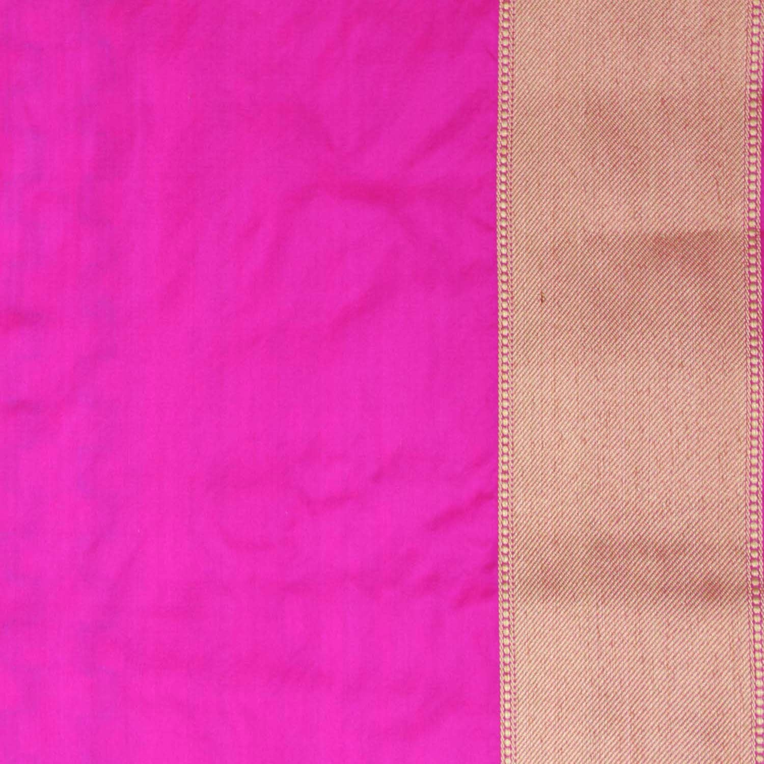 Indian Pink-Orange Pure Katan Silk Banarasi Handloom Saree - Tilfi - 7