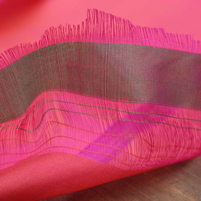 Indian Pink-Peach Pure Katan Silk Banarasi Handloom Dupatta - Tilfi - 3
