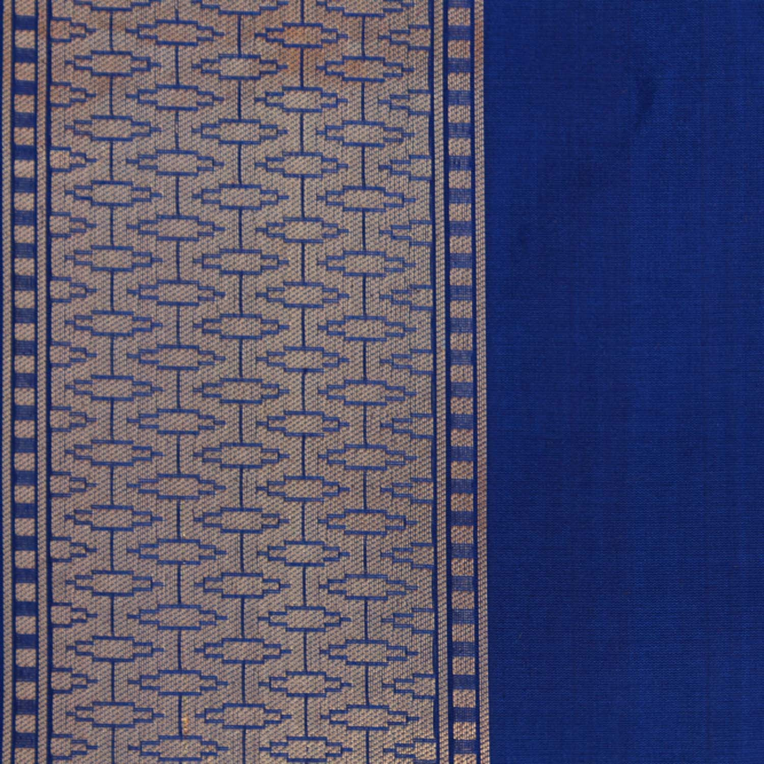 Royal Blue Pure Silk Georgette Banarasi Handloom Saree - Tilfi - 4