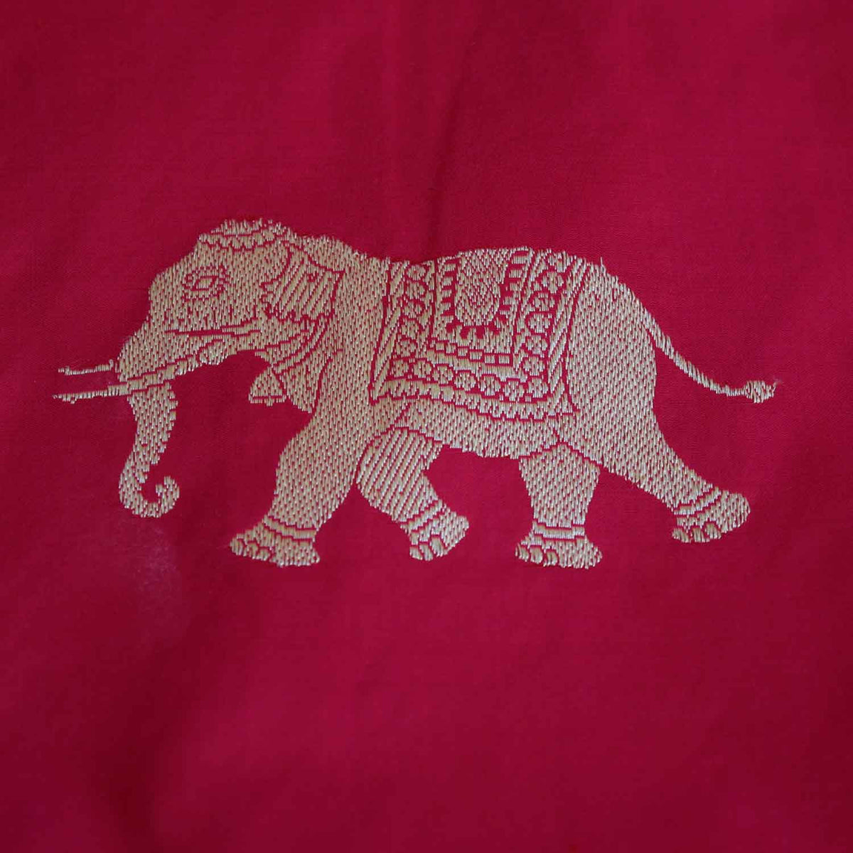 Red-Indian Pink Pure Katan Silk Banarasi Handloom Saree - Tilfi - 4