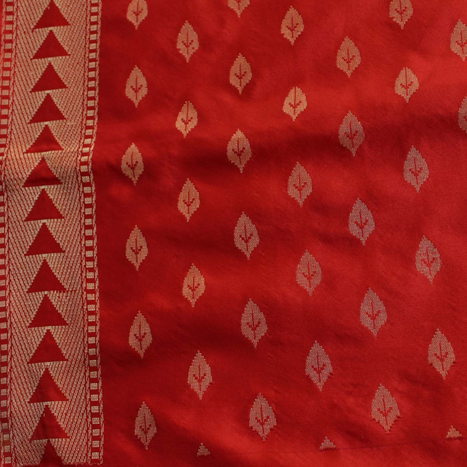 Orange-Indian Pink Pure Katan Silk Banarasi Handloom Saree - Tilfi - 6