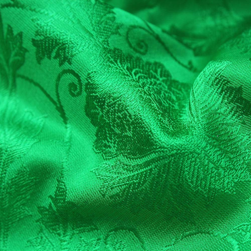 Green-Magenta Pure Katan Silk Dupatta & Green Pure Soft Satin Silk Fabric