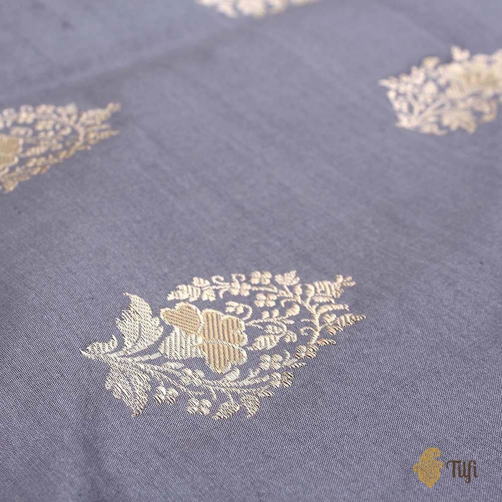 Grey Pure Katan Silk Fabric