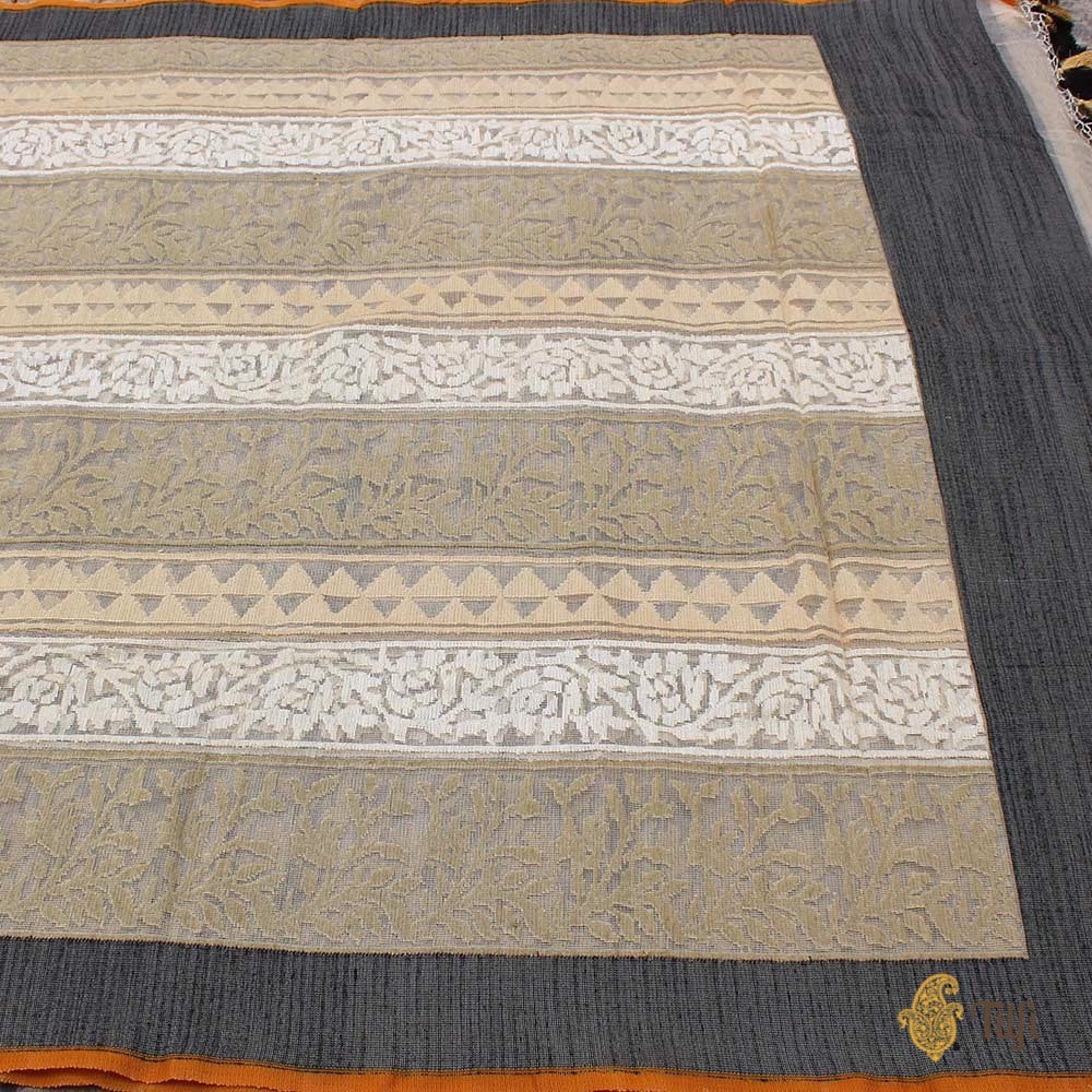 Tussar Pure Kora Net Dupatta & Tussar Pure Tussar by Kora Net Fabric Set