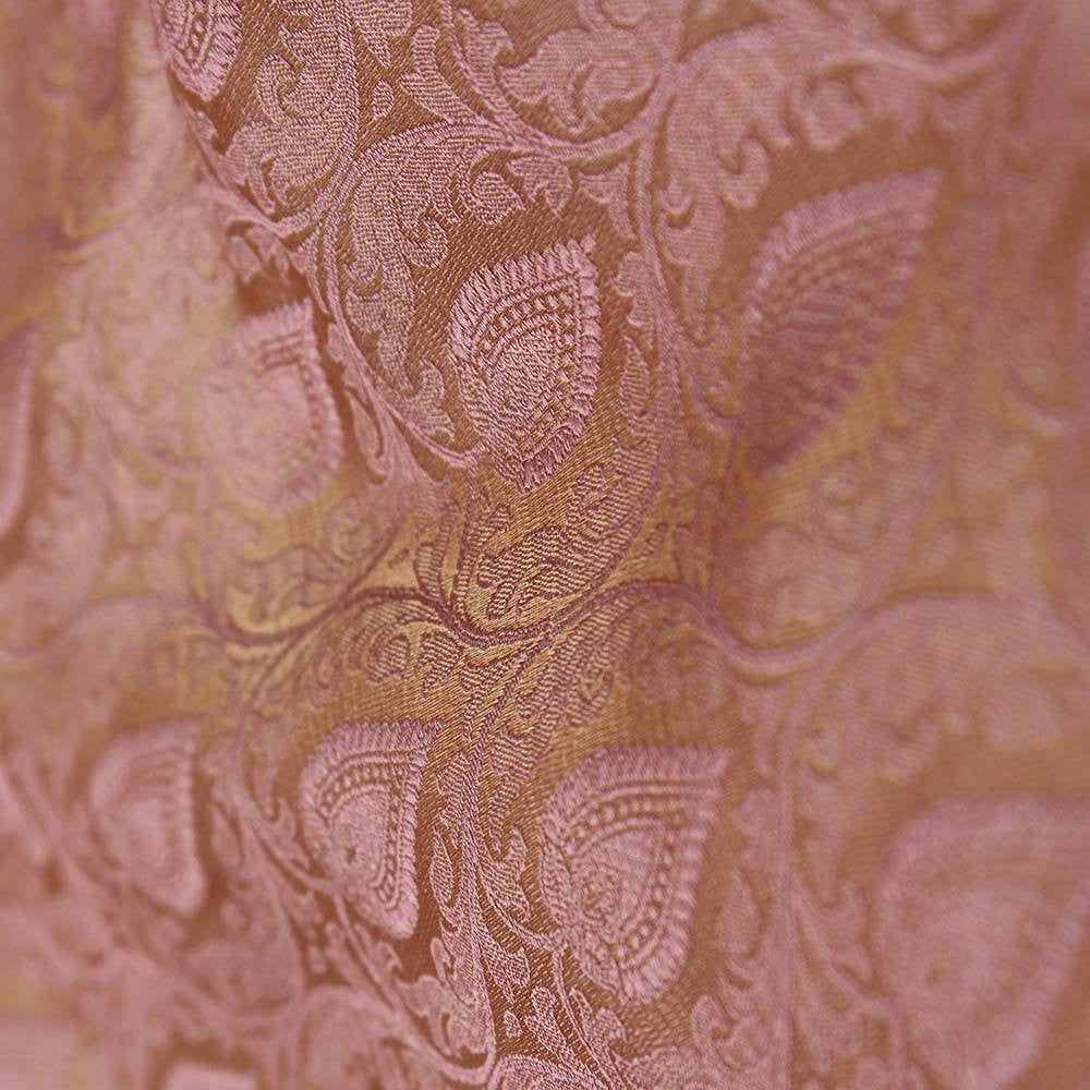 Orange-Gulabi Pink Pure Katan Silk Dupatta & Camel Pure Soft Satin Silk Fabric