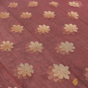 Old Rose Pink Pure Kora Net Dupatta & Old Rose Pink Pure Dupion Silk Fabric Set