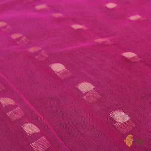 Rani Pink Pure Kora Net Dupatta & Tussar Colour Pure Dupion Silk Fabric Set