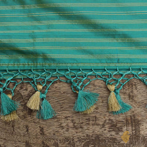 Sea Green-Blue Pure Katan Silk Banarasi Handloom Patola Dupatta