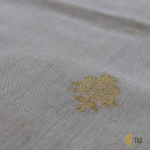 Off-White Pure Cotton Banarasi Handloom Dupatta