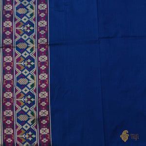 Royal Blue Pure Katan Silk Banarasi Patola Handloom Saree