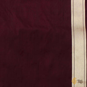 Coke Brown Pure Katan Silk Banarasi Handloom Saree