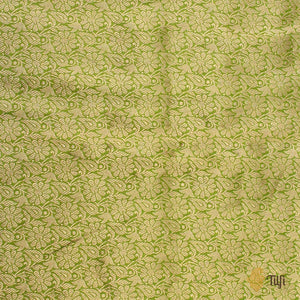 Green Pure Katan Silk Banarasi Handloom Saree