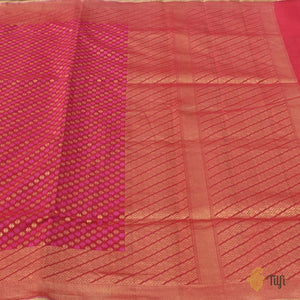 Pink Pure Cotton Banarasi Handloom Saree