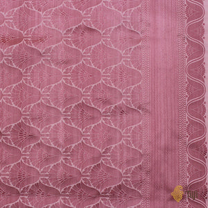 Soft Pink Pure Soft Satin Silk Banarasi Handloom Saree