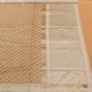 Peach Pure Cotton Banarasi Handloom Saree