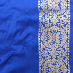 Red-Gulabi Pink and Royal Blue Pure Katan Silk Banarasi Handloom Saree