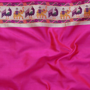 Red-Rani Pure Katan Silk Banarasi Handloom Patola Saree
