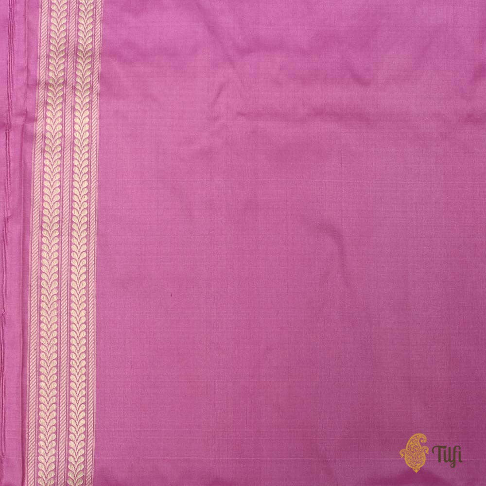 Light Fuchsia Pink Pure Katan Silk Banarasi Handloom Saree