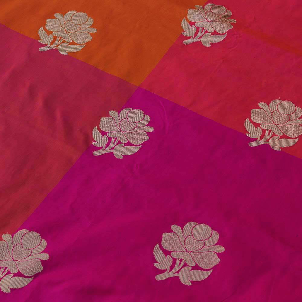 Checkered Pure Katan Silk Handloom Banarasi Saree