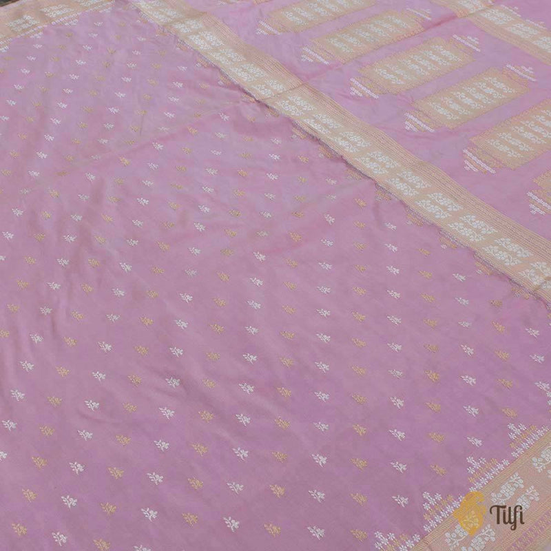 Light Gajri Pink Pure Katan Silk Banarasi Handloom Saree