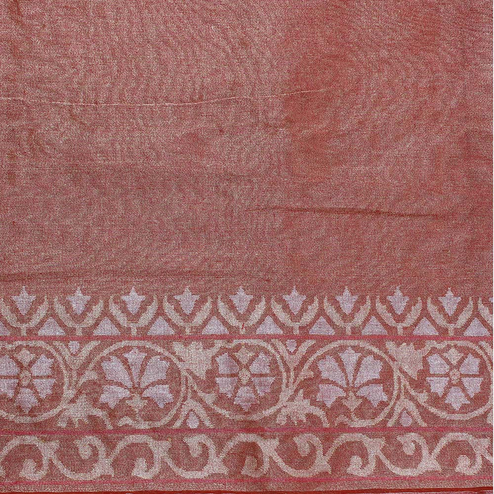Rangkat Pure Cotton Real Zari Banarasi Handloom Saree