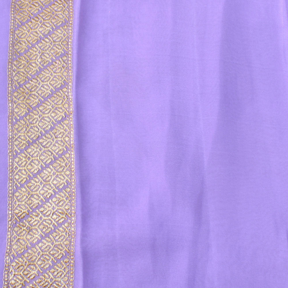 Light Lavender Ombré Pure Khaddi Georgette Banarasi Handloom Saree
