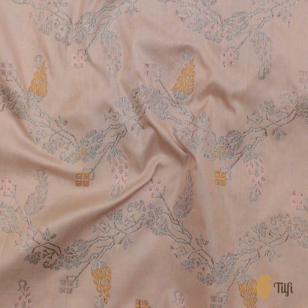 Light Pink Pure Katan Silk Banarasi Handloom Saree