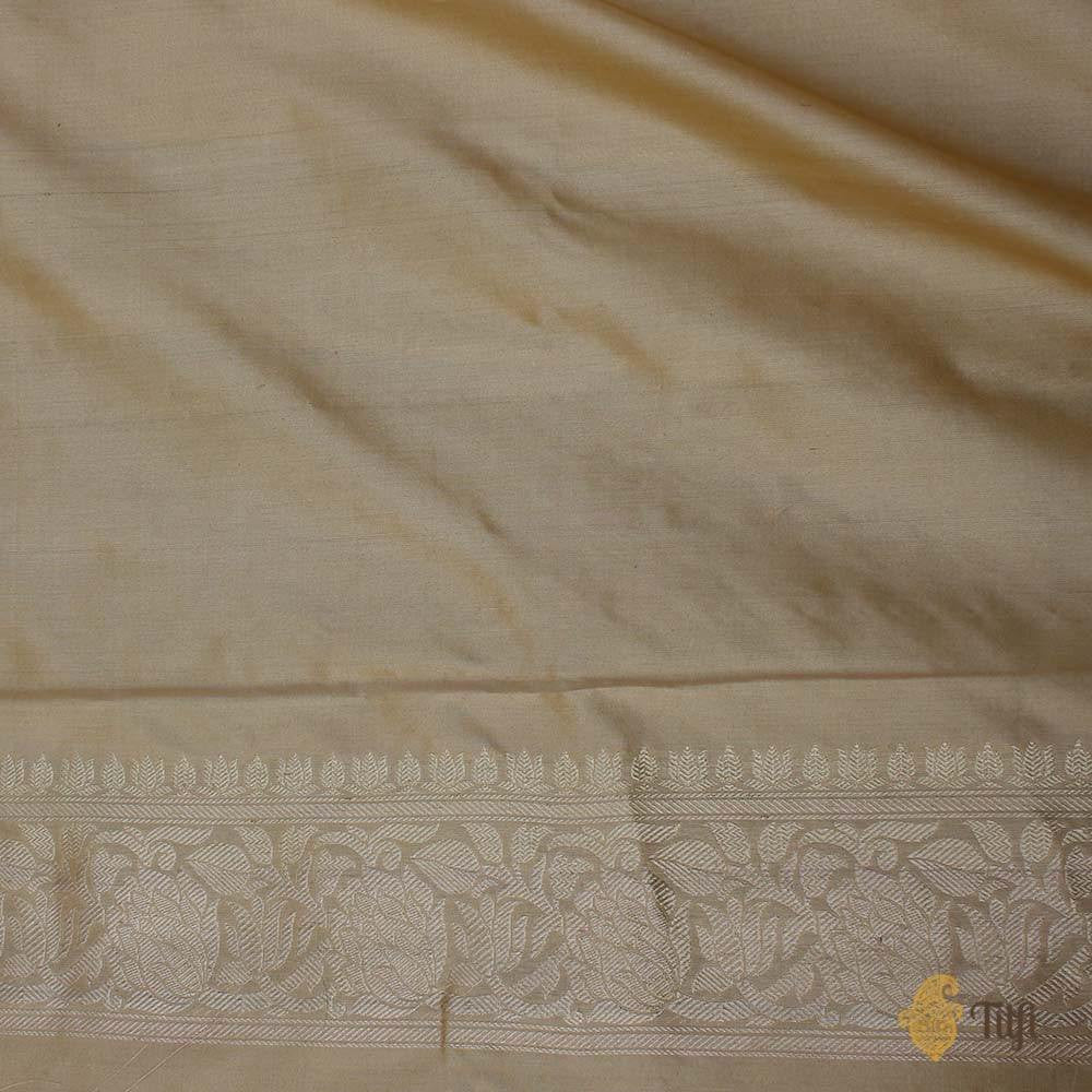 Tussar Colour Pure Katan Silk Banarasi Handloom Saree