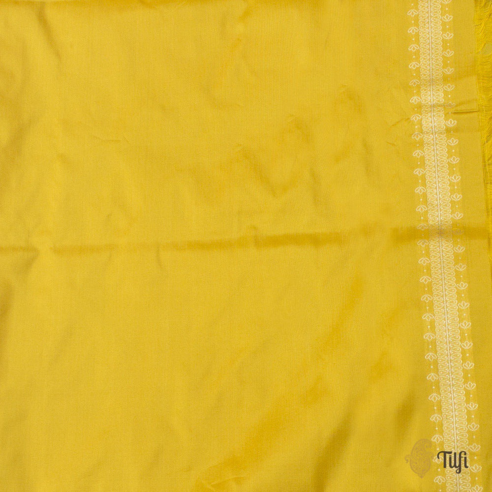 Magenta-Yellow Pure Katan Silk Banarasi Handloom Saree