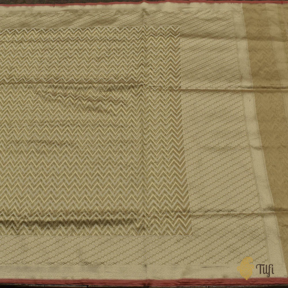 Gold Pure Kora Tissue Banarasi Handloom Saree