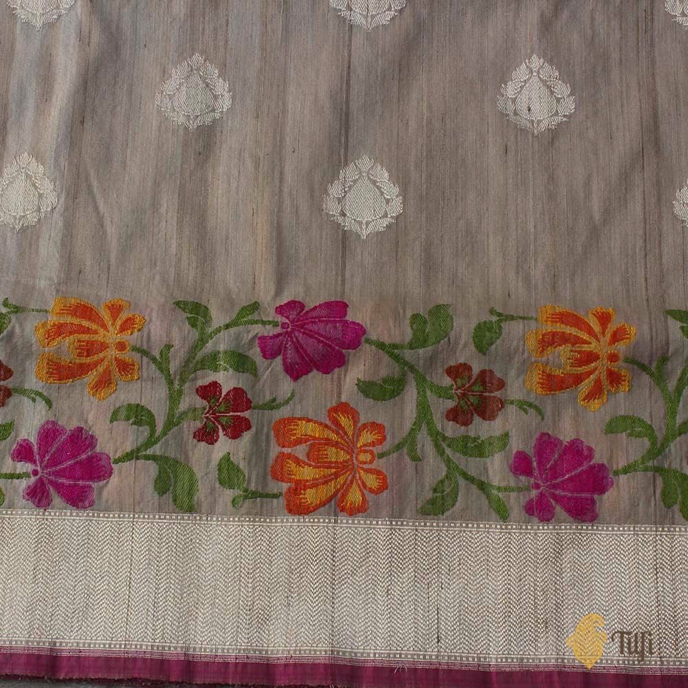 Tussar Colour Pure Tussar Silk Banarasi Handloom Saree