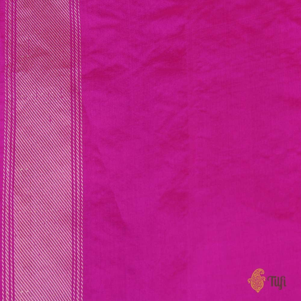 Green Pure Kora Silk Banarasi Handloom Saree