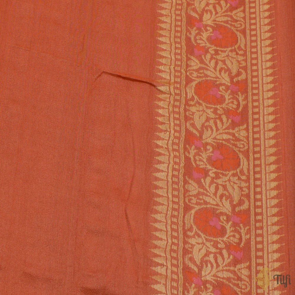 Straw Yellow Pure Monga Silk Banarasi Handloom Saree