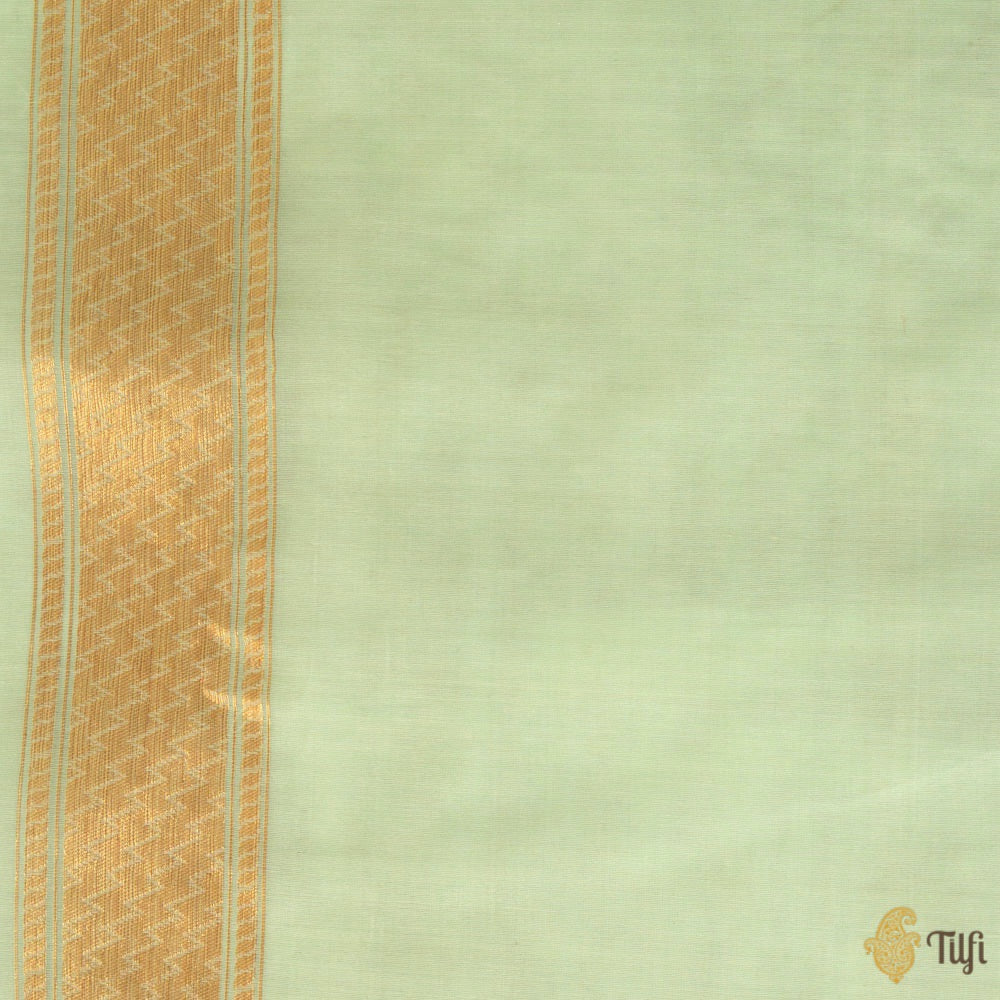 Light Blue Pure Kora Silk Banarasi Handloom Saree