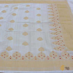 Tussar Colour Pure Tussar Georgette Silk Banarasi Handloom Saree