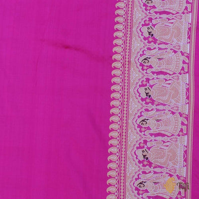 Magenta-Indian Pink Pure Katan Silk Banarasi Handloom Saree