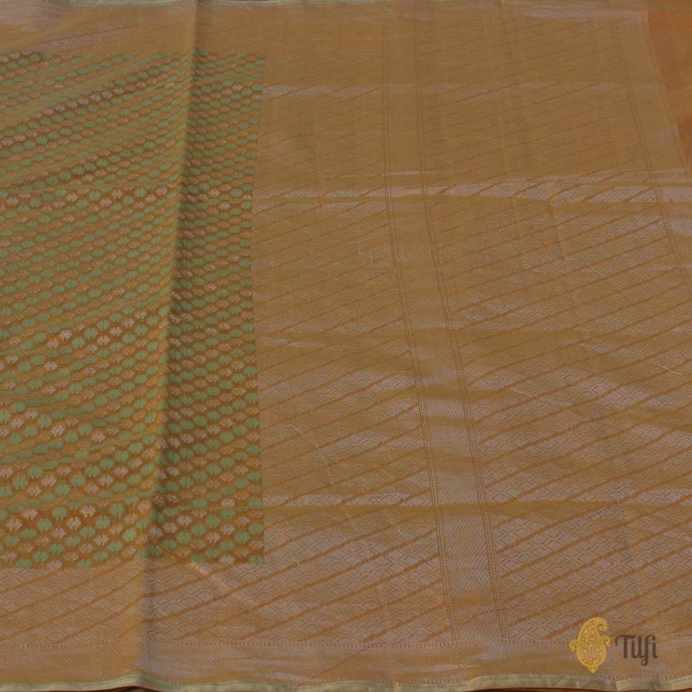 Mustard Pure Silk by Cotton Banarasi Handloom Saree