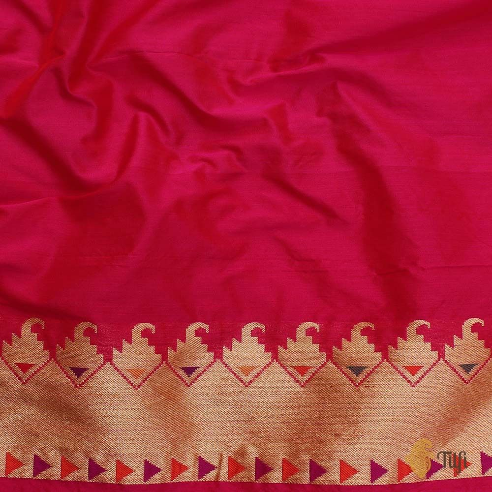 Gold Pure Katan Silk Banarasi Handloom Saree
