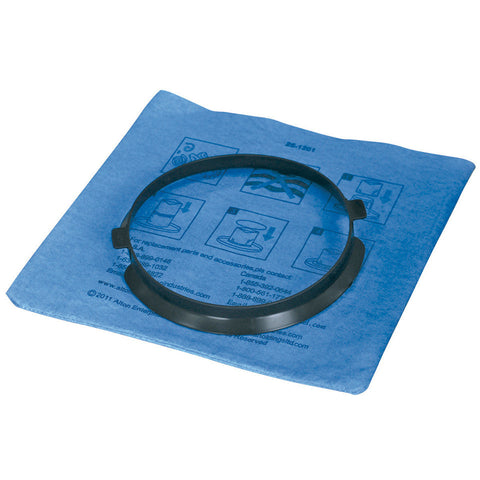 19-1500	Stanley Blue Cloth, Reusable Filter with Clamp Ring for 5-6 Gallon Wet/Dry Vacuums