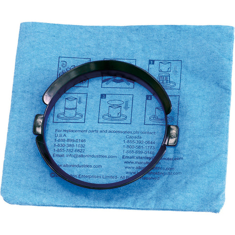 20-1100	Stanley Blue Cloth, Reusable Filter with Clamp Ring for 3 and 5 Gallon Wet/Dry Vacuums
