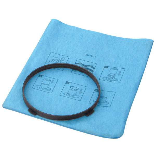 25-1201	Stanley Blue Cloth, Reusable Filter with Clamp Ring for 1-5 Gallon Wet/Dry Vacuums