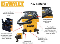 DXV09P DeWALT 9 Gallon Poly Wet/Dry Vac